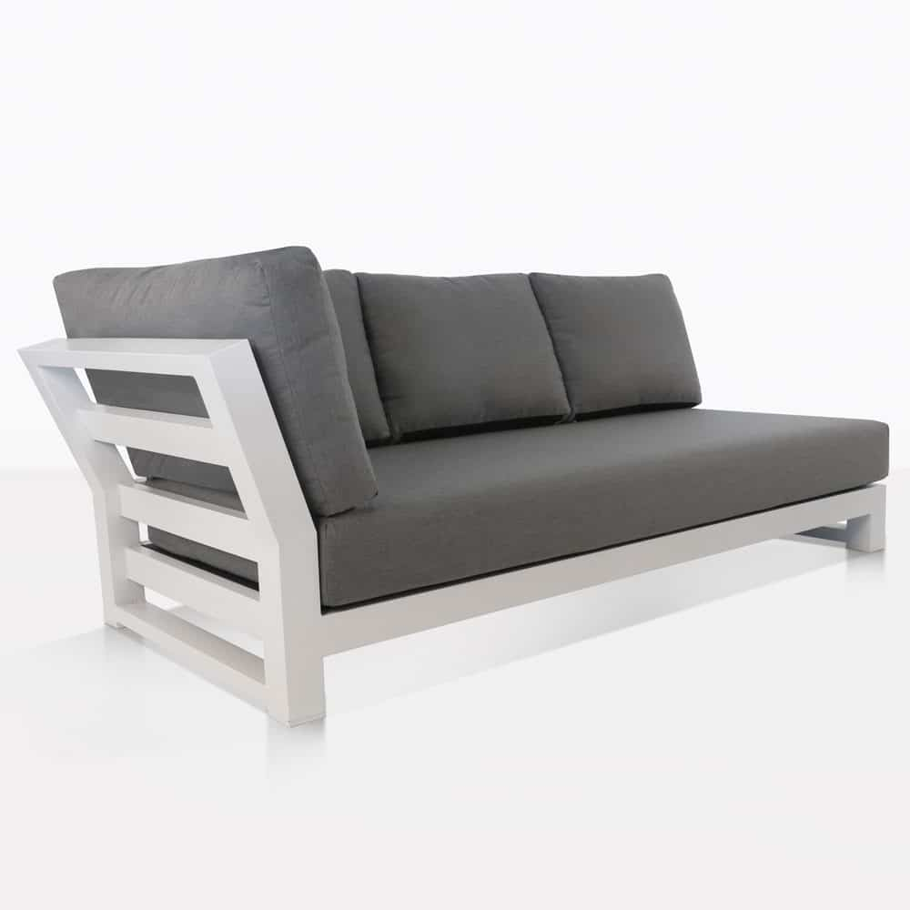 South Bay Outdoor Sectional Right Sofa White Teak