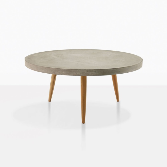 Aspen Concrete And Teak Small Coffee Table