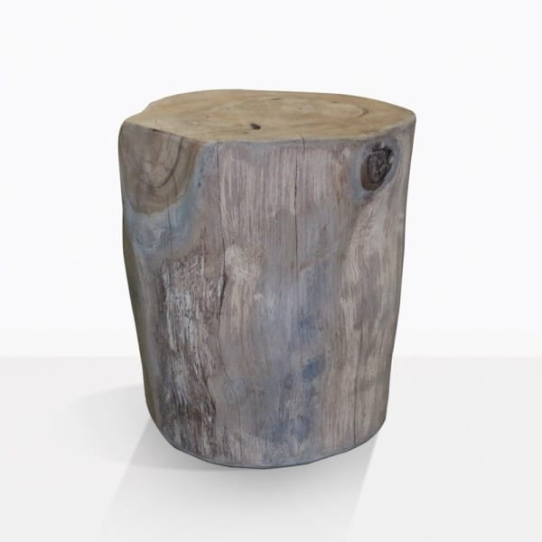 Pepper Teek Trunk Round Side Table