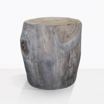 Pepper Teak Trunk Side Table