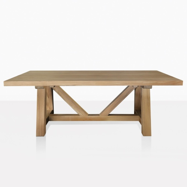 Devon A Grade Teak Trestle Dining Table Straight