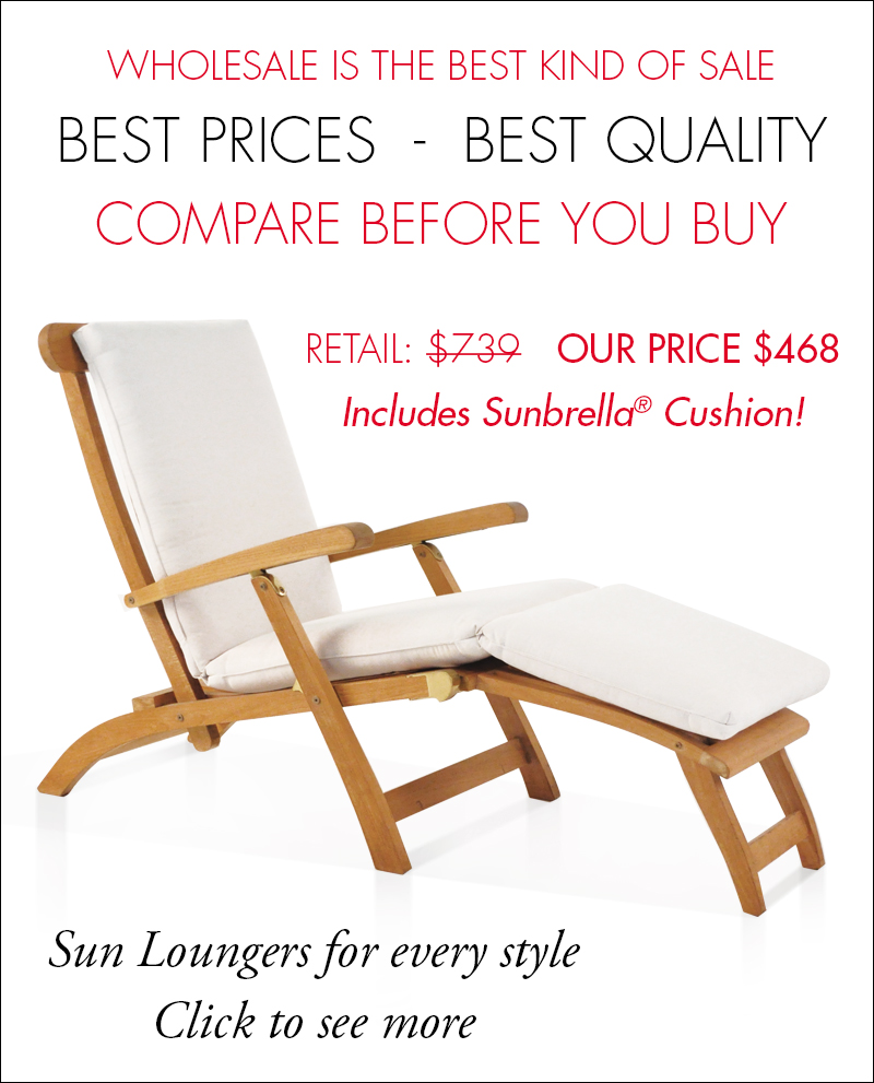 Outdoor Patio Furniture On Sale At Teak Warehouse