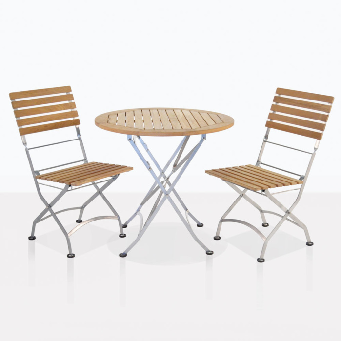 cafe folding chairs and table