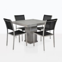 Concrete And Batyline Mesh Dining Set