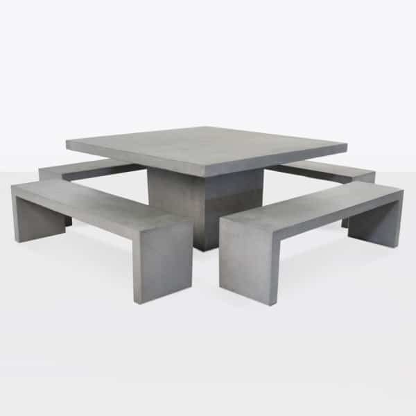 Concrete Square Dining Set