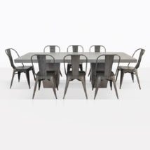 Alix And Concrete Dining Set
