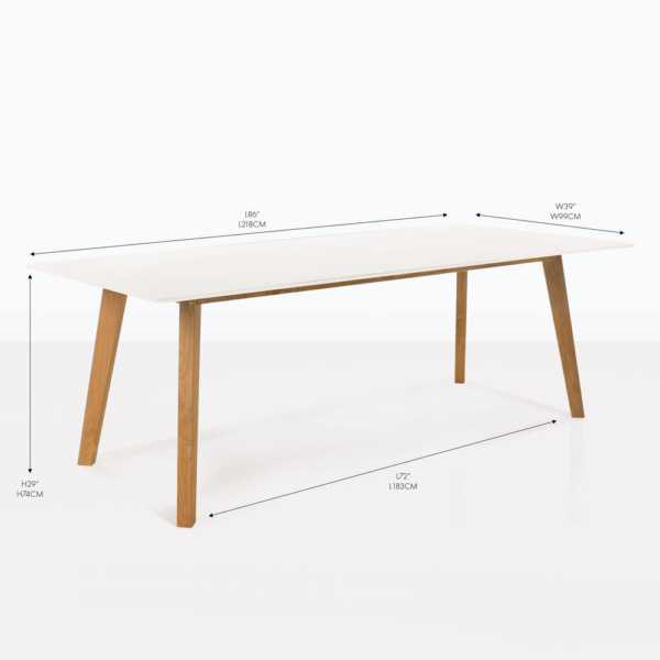 elements white outdoor dining table