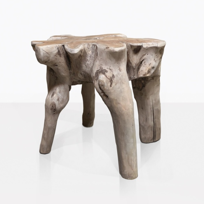 oro natural teak root accent table