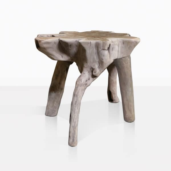 oro teak root accent table side view