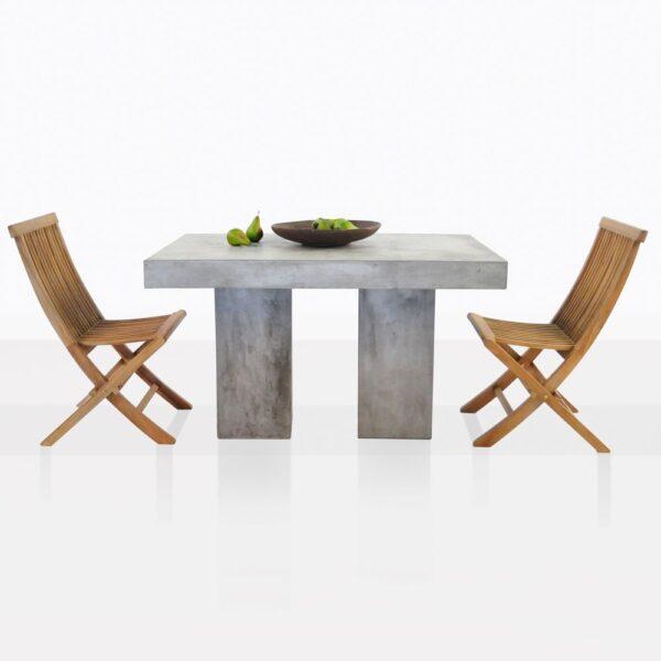 Prego Teak And Concrete Dining Set