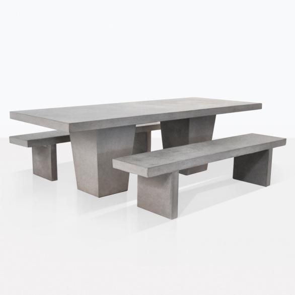 raw-concrete-tapered-bench-set