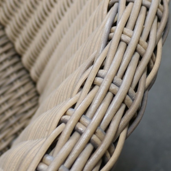 melawai relaxing chair weave closeup view