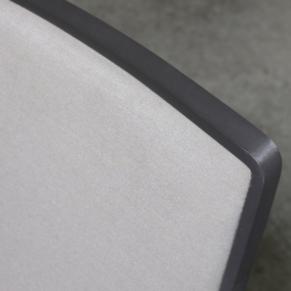 Panama aluminum grey dining chair
