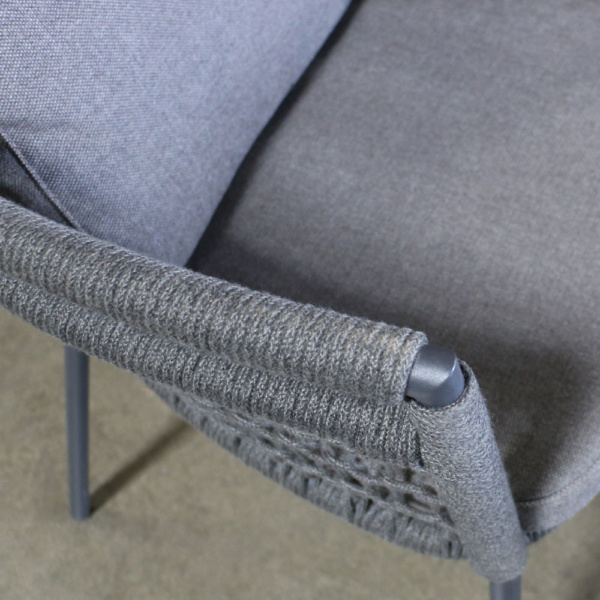 usso coal outdoor dining chair close up