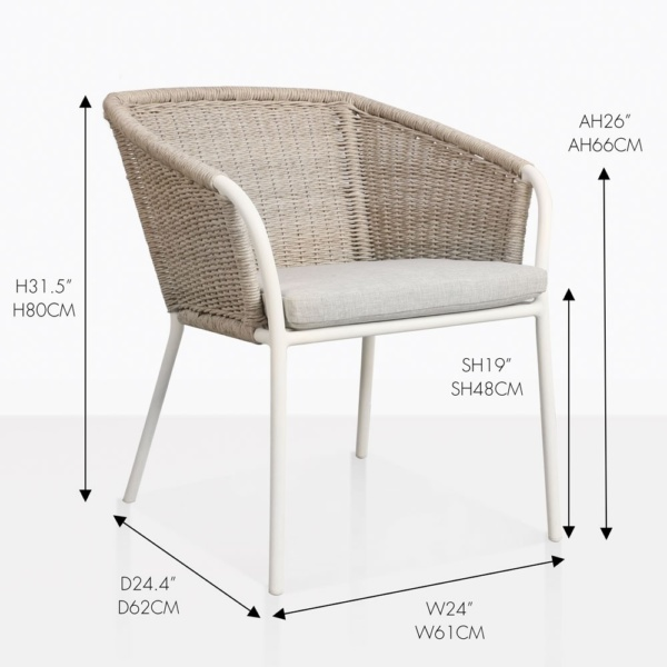 Becki Dining Chair With All Measurements