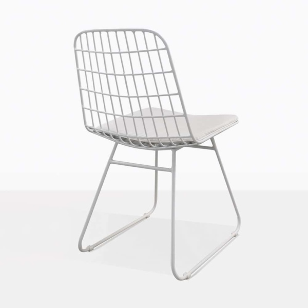 Caloco Outdoor Dining Chair white back
