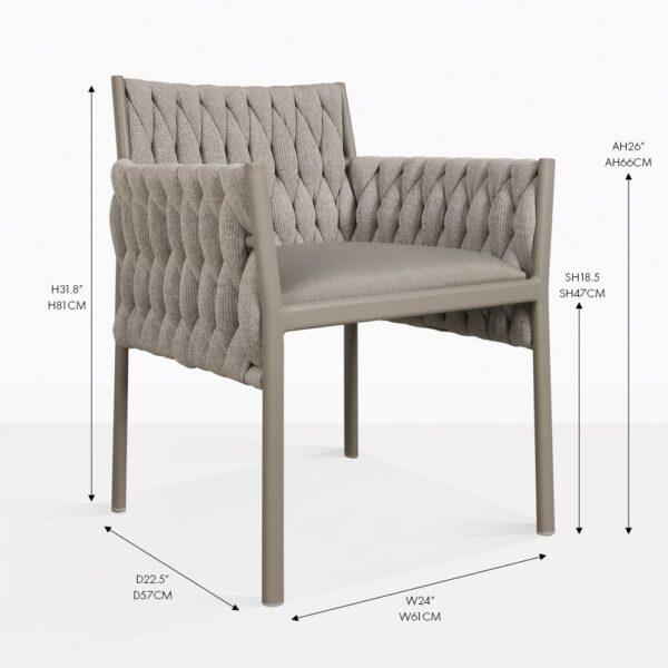 calvin outdoor woven dining chair