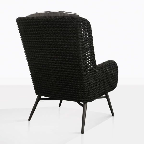 dream high back outdoor relaxing wicker chair black back