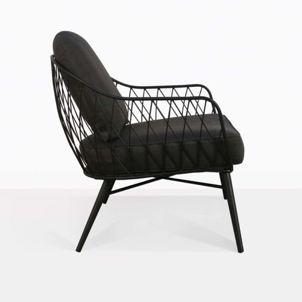 lincoln chair steel black cushions outdoor relaxing side