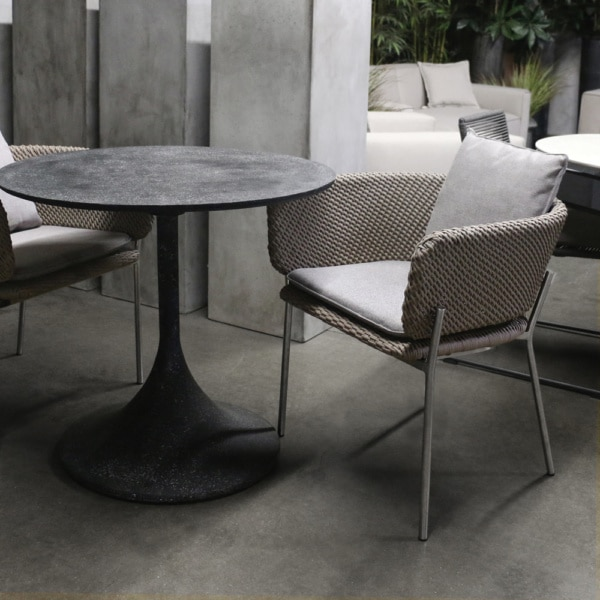 Orgain Black Round Bistro Dining Table
