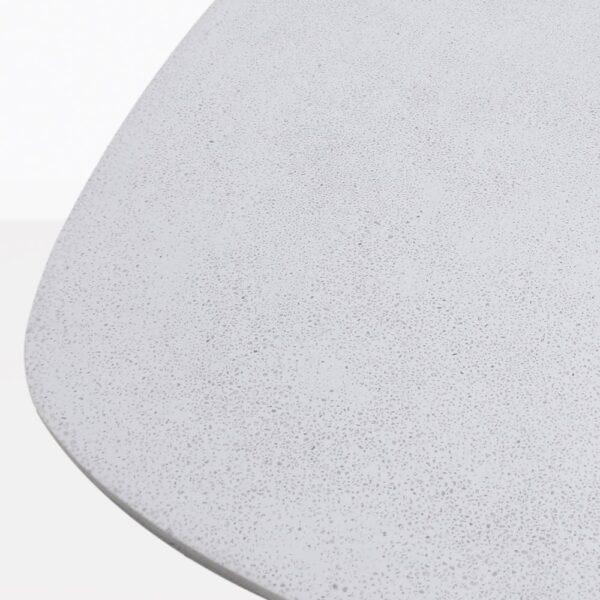 Bunni White Geometric Side Table Closeup