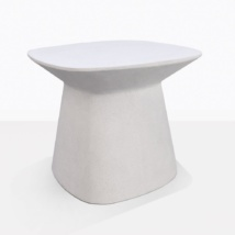 Bunni White Geometric Accent Table