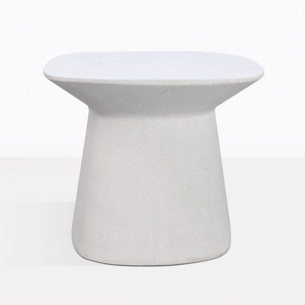 Bunni White Geometric Side Table