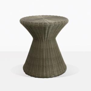 Jak Moss Small Wicker Side Table