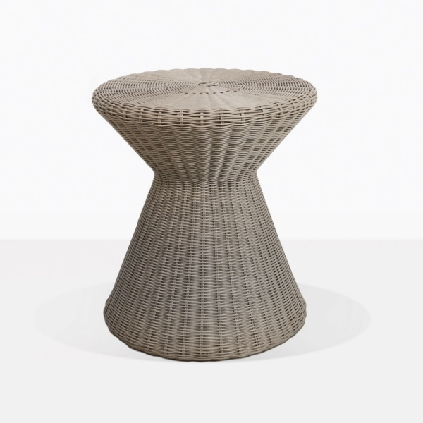Jak Round Wicker Side Table
