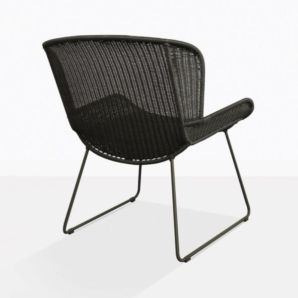 Nairobi Pure Black Modern Wicker Chair Back