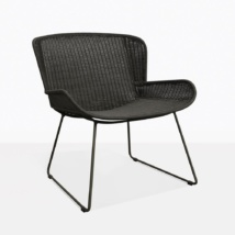 Nairobi Pure Black Wicker Relaxing Chair