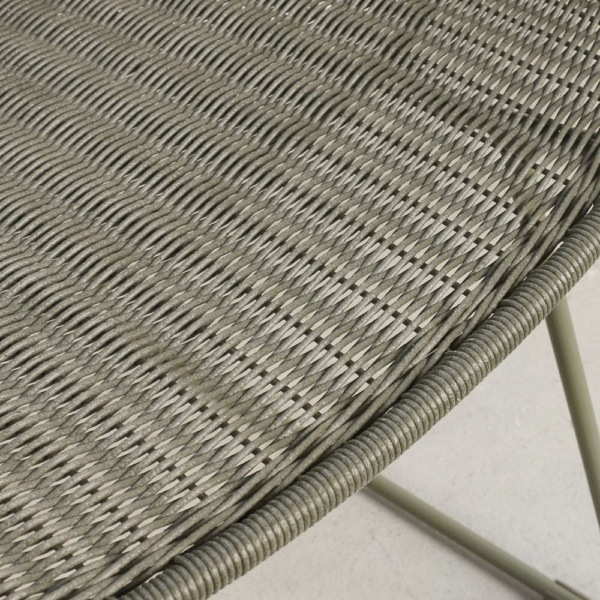 Nairobi Moss Green Wicker Chair Closeup