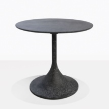 Orgain Black Round Concrete Outdoor Dining Table