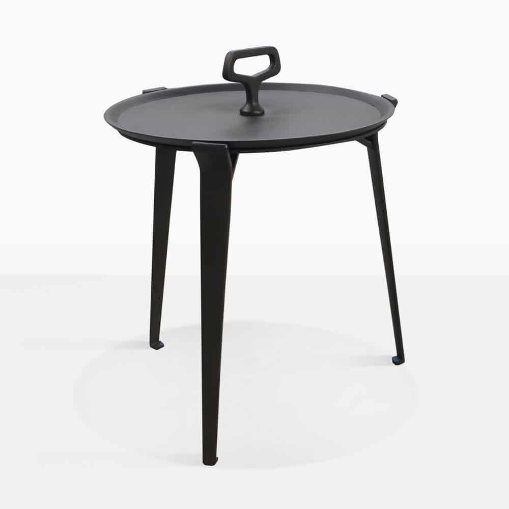 - Peppi Outdoor Aluminum Accent Table Patio Furniture Teak Warehouse