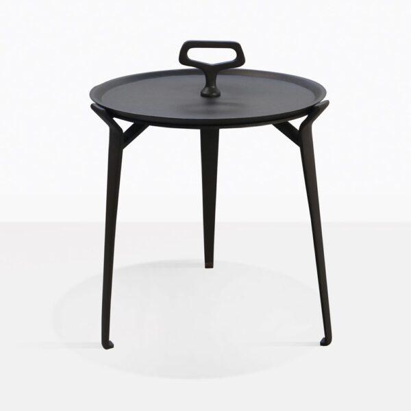 Peppi Aluminum Black Outdoor Accent Table