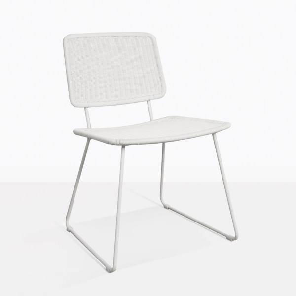 Polly White Modern Wicker Dining Chair