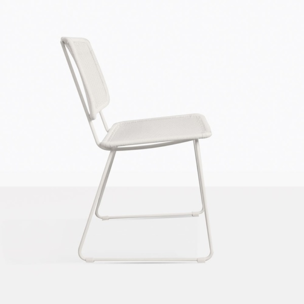 Polly White Wicker Relaxing Chair Side