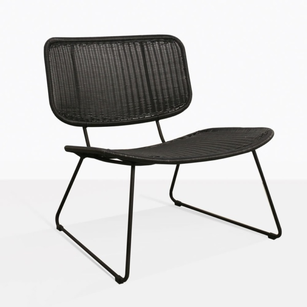 Polly Black Mod Wicker Relaxing Chair