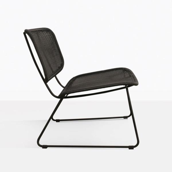 Polly Wicker Relaxing Chair in Black Side