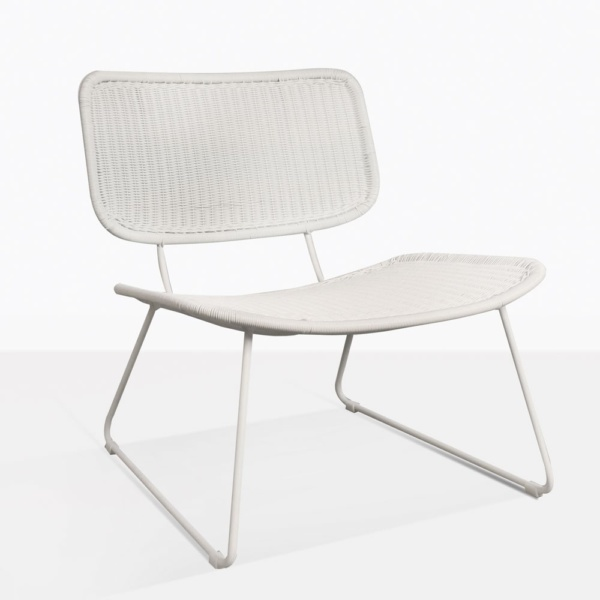 Polly White Modern Wicker Relaxing Chair