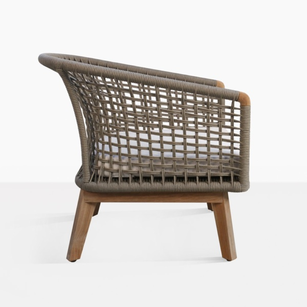 ravoli teak rope outdoor relaxing chair side
