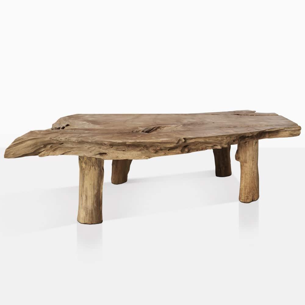 Teak Burger Coffee Table: River Teak Organic Coffee Table