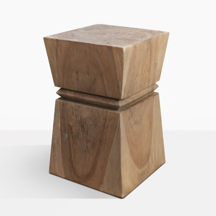 Rothko Swamp Wood Square Side Table