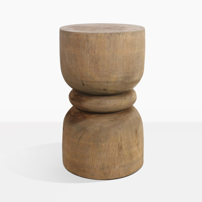 Teak Wood Side Table.Zig Organic Teak Side Table