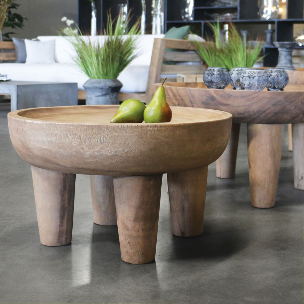 African Safari Teak Small Side Table Outdoor Furniture