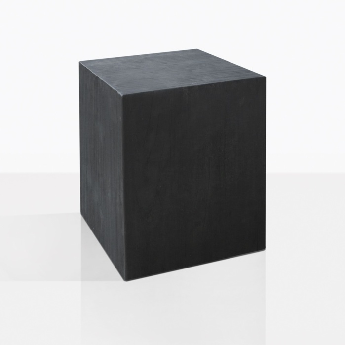 Gabby Black Stained Teak Side Table