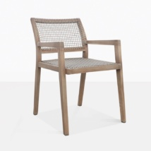 Gazzoni Teak And Rope Outdoor Dining Chair