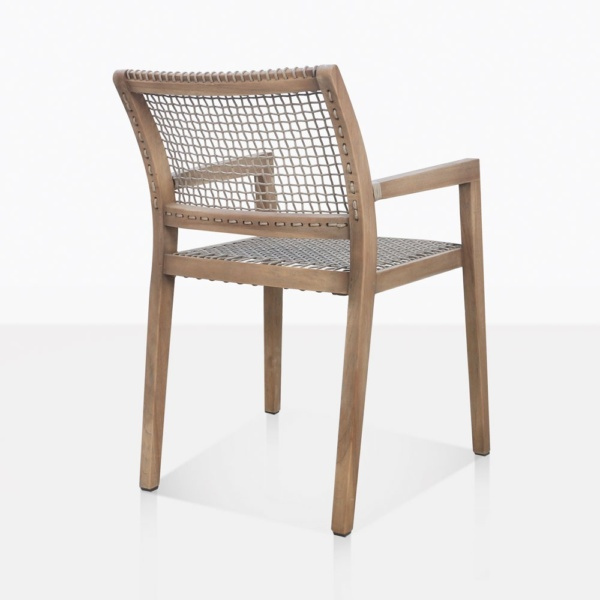 Gazzoni Teak And Rope Dining Chair Back