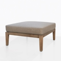 Gazzoni Teak And Rope Ottoman With Cushion