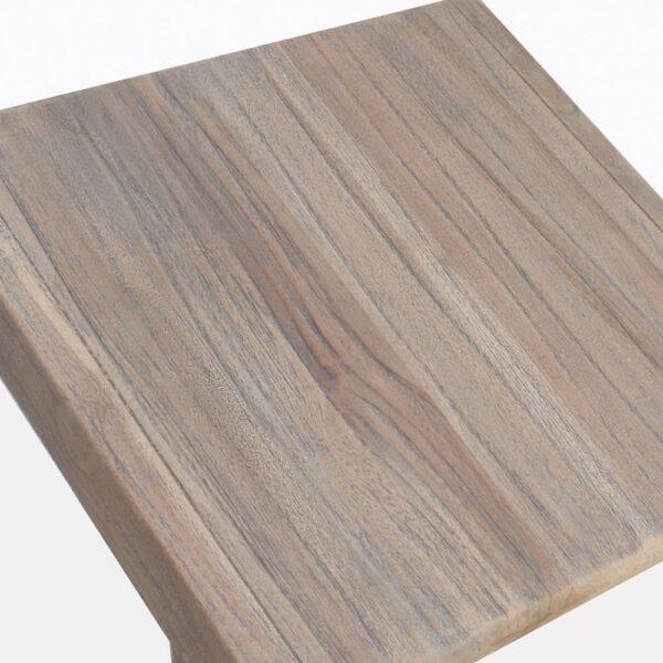 Gazzoni Small Teak Side Table Closeup